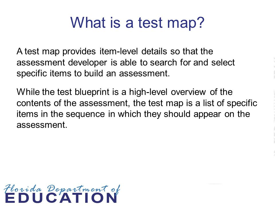 What is a test map