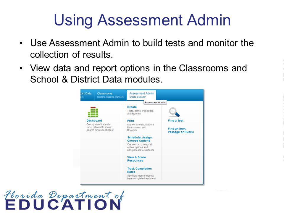 Using Assessment Admin