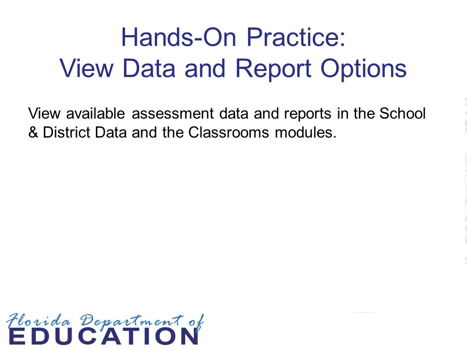 Hands-On Practice: View Data and Report Options