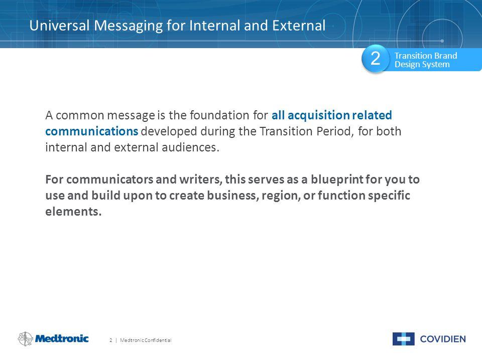 Universal Messaging for Internal and External