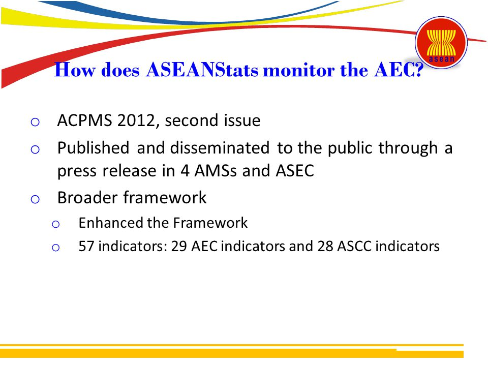 How does ASEANStats monitor the AEC