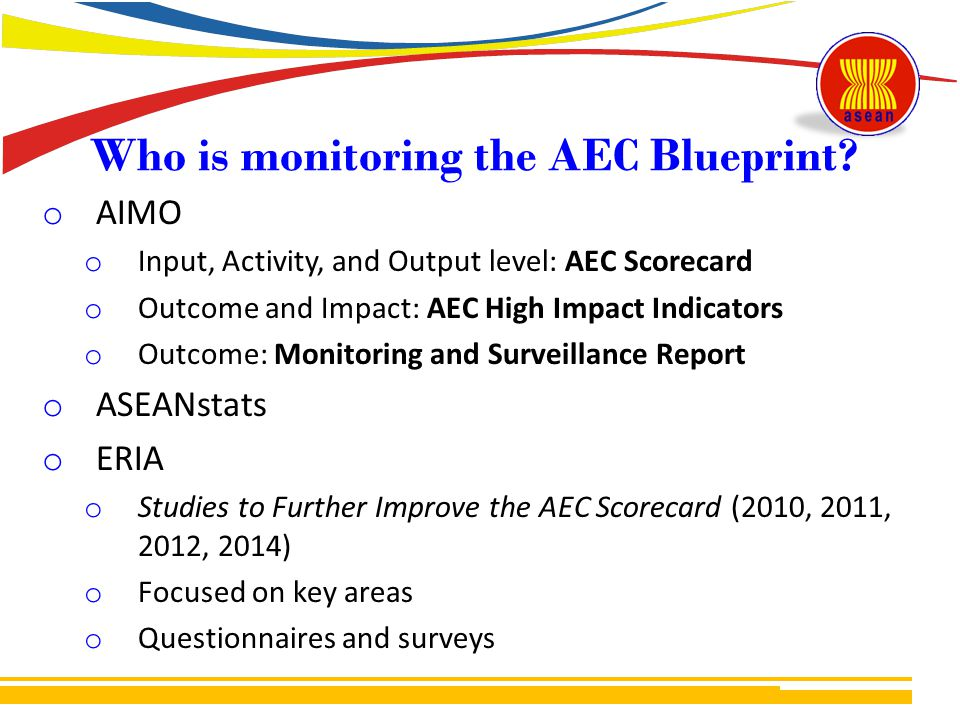 Who is monitoring the AEC Blueprint