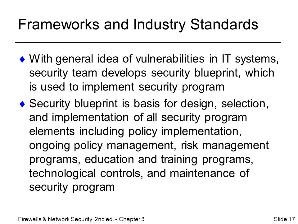 Frameworks and Industry Standards