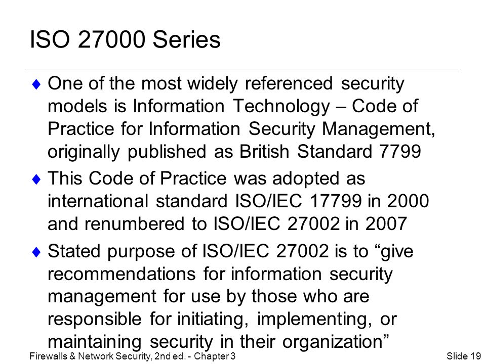 ISO 27000 Series