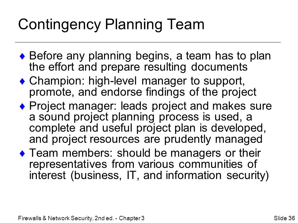 Contingency Planning Team