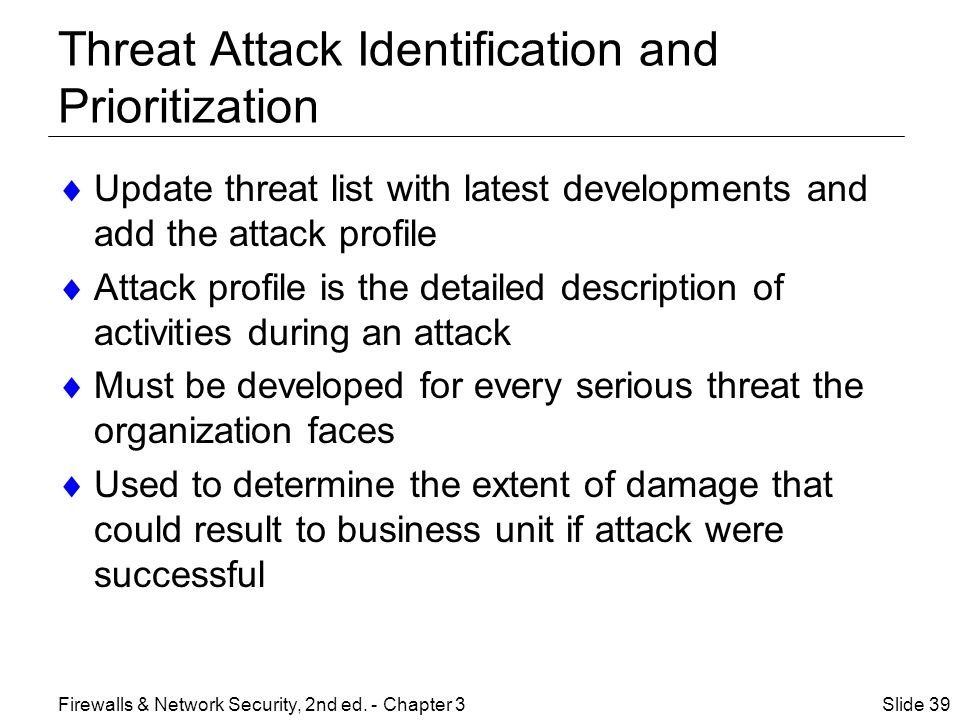 Threat Attack Identification and Prioritization