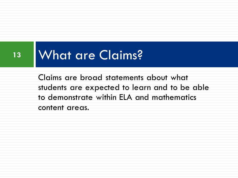 What are Claims