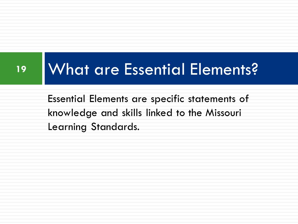 What are Essential Elements