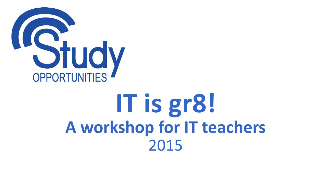 A workshop for IT teachers