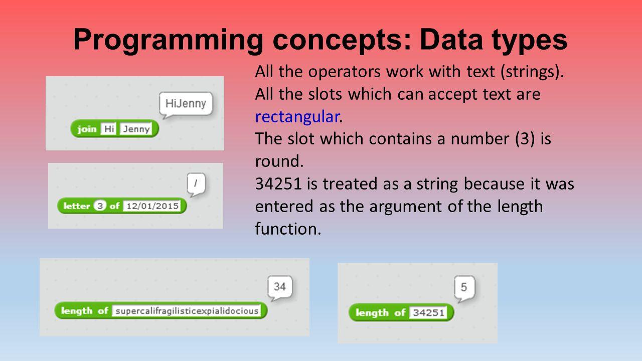 Programming concepts: Data types