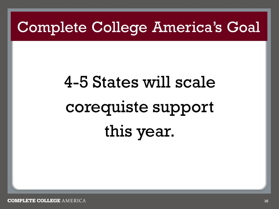 Complete College America's Goal