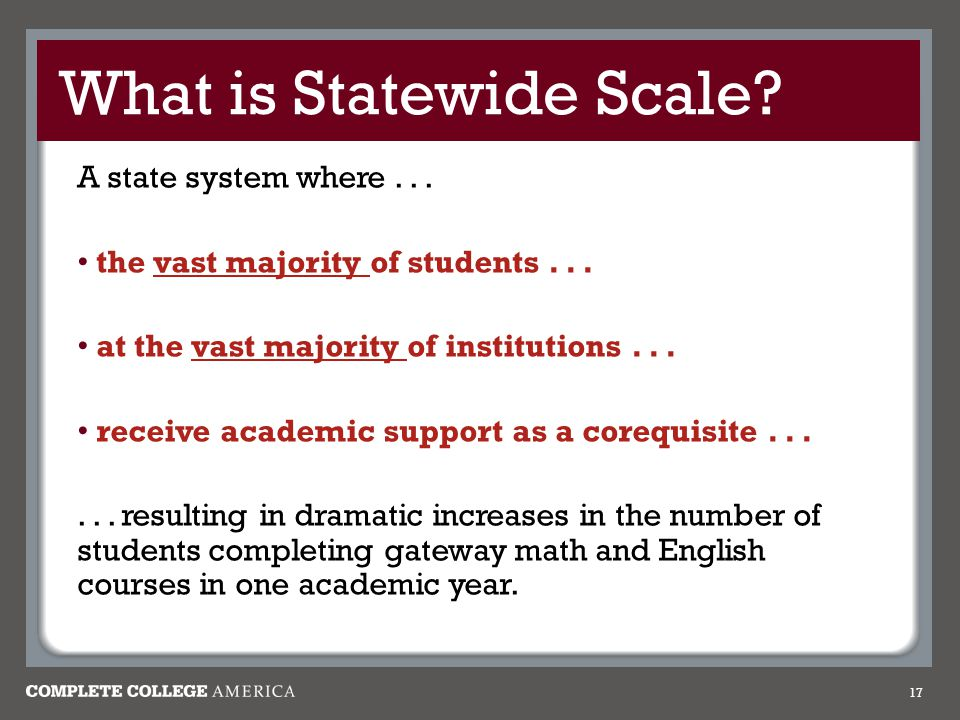 What is Statewide Scale