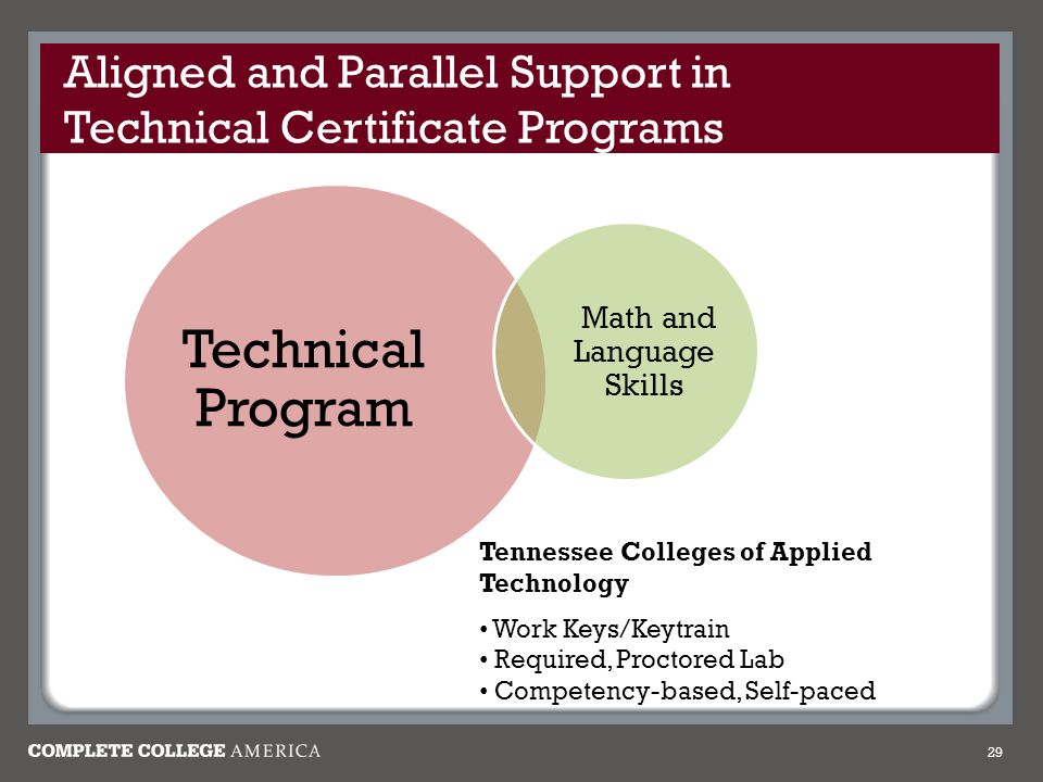 Aligned and Parallel Support in Technical Certificate Programs