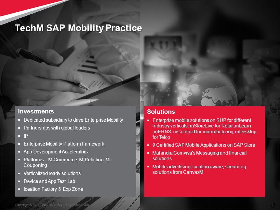 TechM SAP Mobility Practice