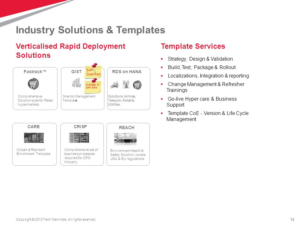 Industry Solutions & Templates