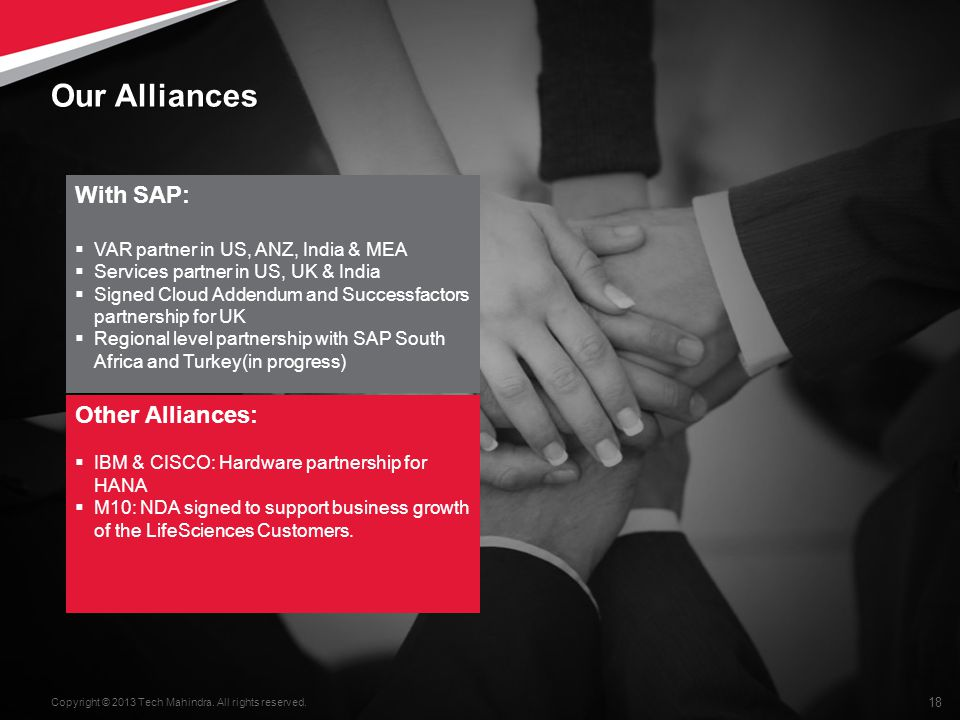 Our Alliances With SAP: Other Alliances: