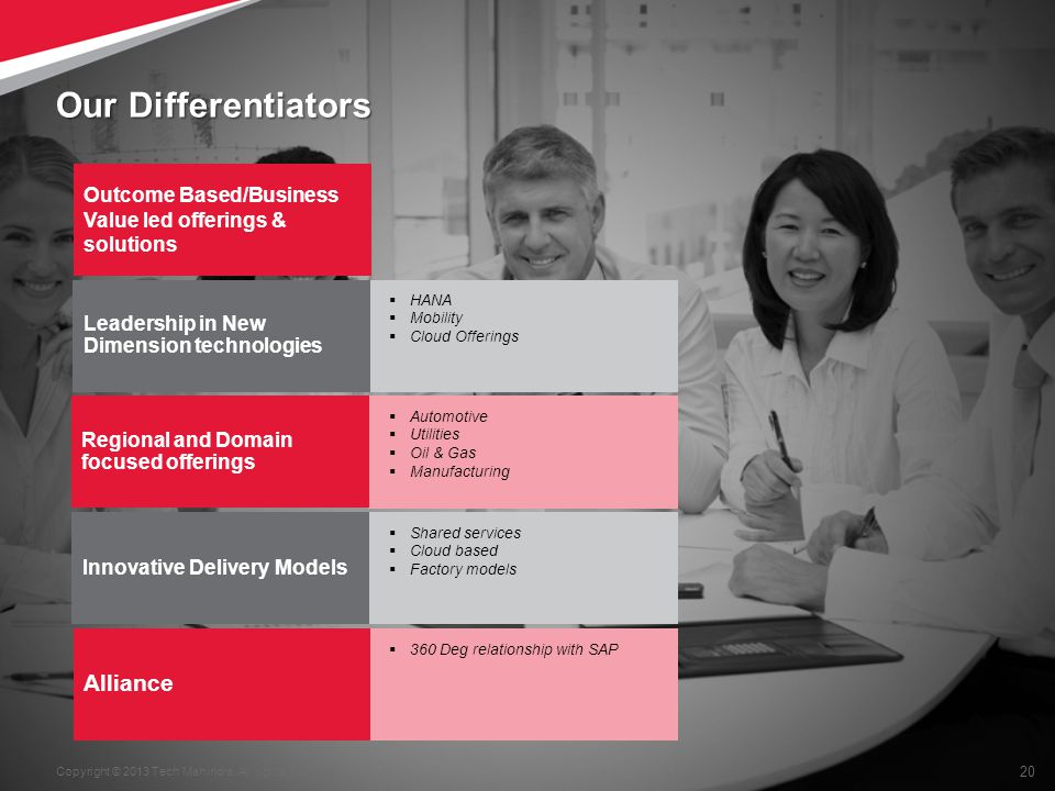 Our Differentiators Alliance