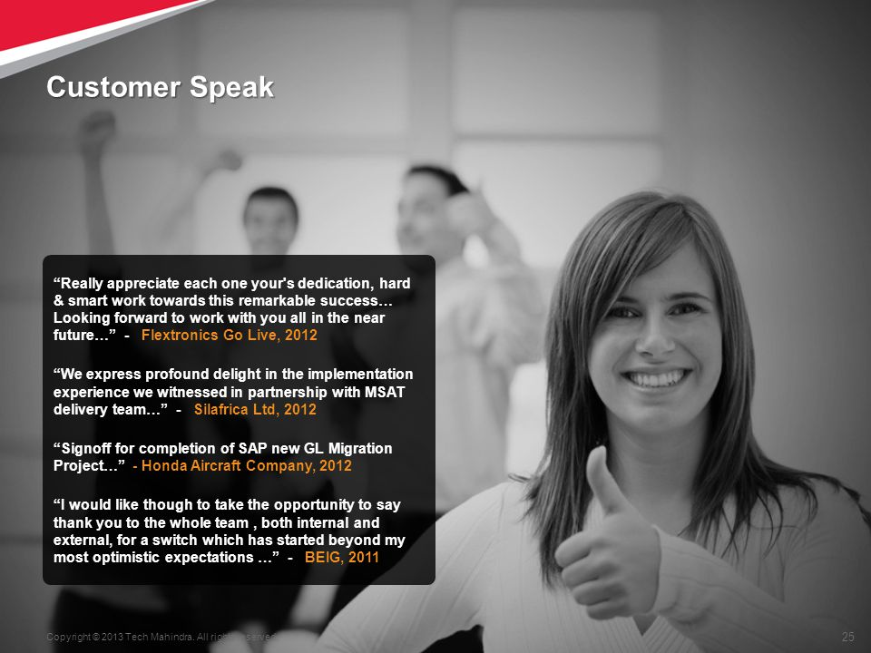 Customer Speak
