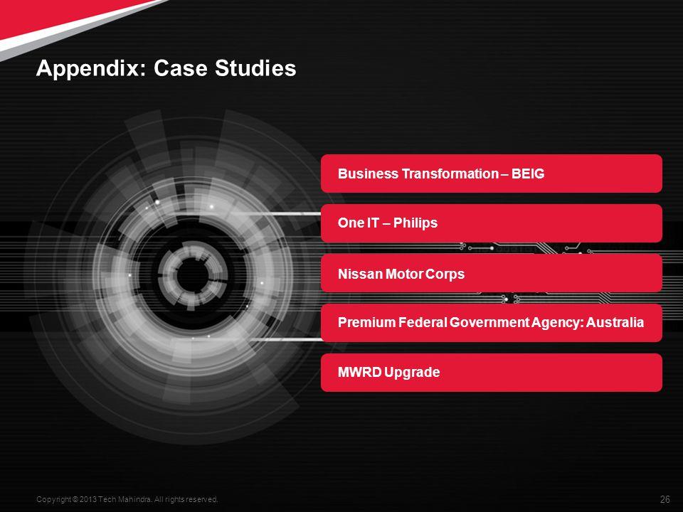 Appendix: Case Studies