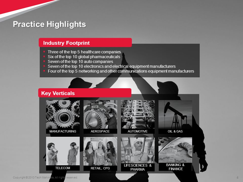 Practice Highlights Industry Footprint Key Verticals