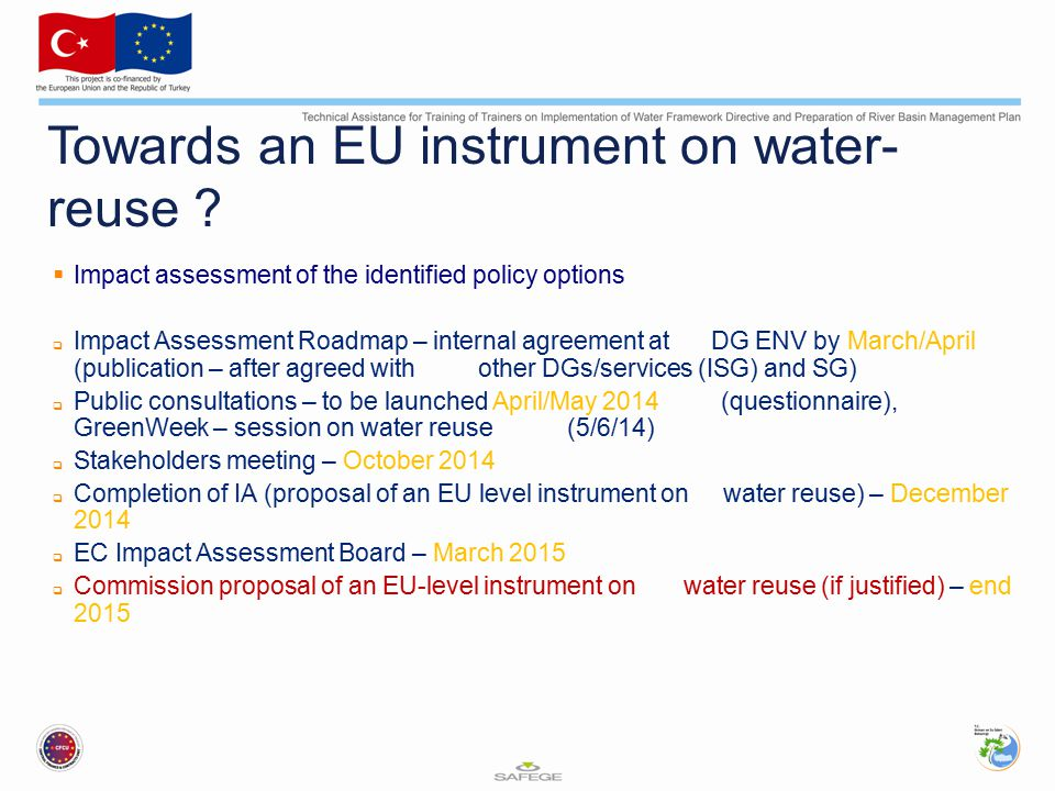 Towards an EU instrument on water-reuse