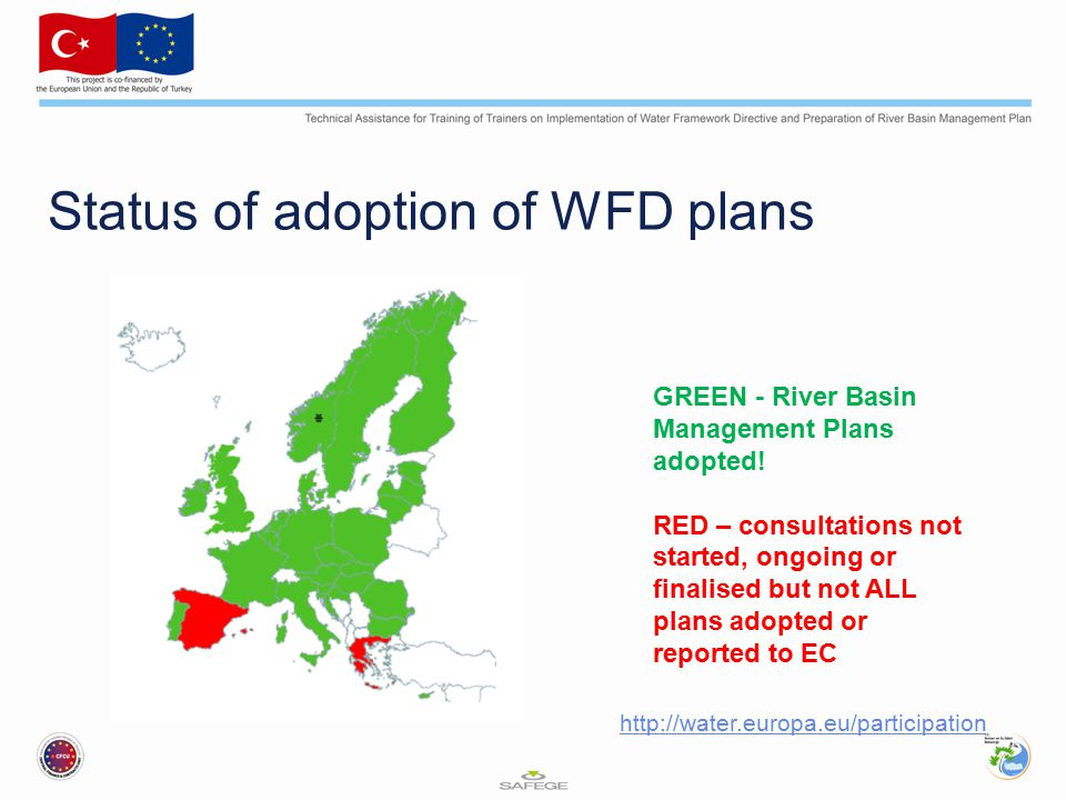 Status of adoption of WFD plans