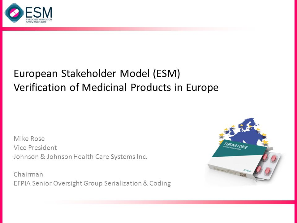 European Stakeholder Model (ESM) Verification of Medicinal Products in Europe