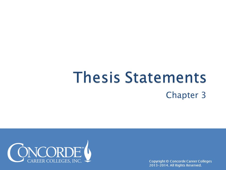 Thesis Statements Chapter 3