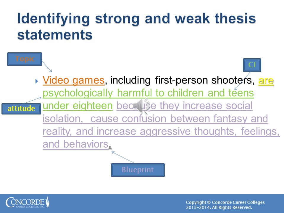 identifying thesis statements
