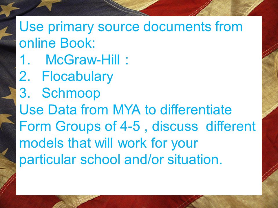 Use primary source documents from online Book: