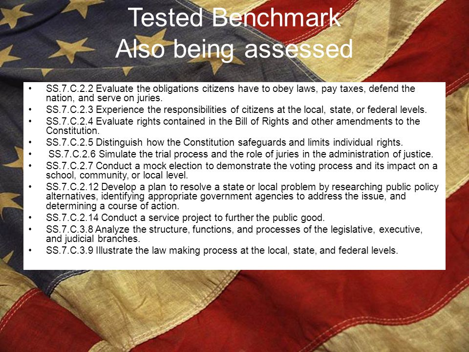 Tested Benchmark Also being assessed