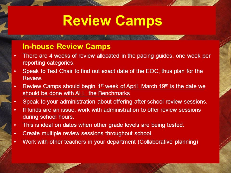 In-house Review Camps Review Camps
