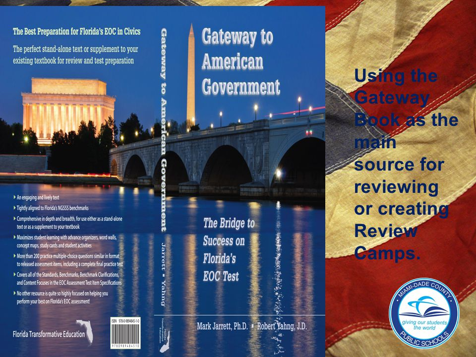 Using the Gateway Book as the main source for reviewing or creating Review Camps.