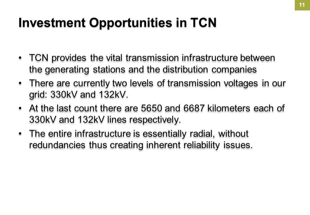 Investment Opportunities in TCN