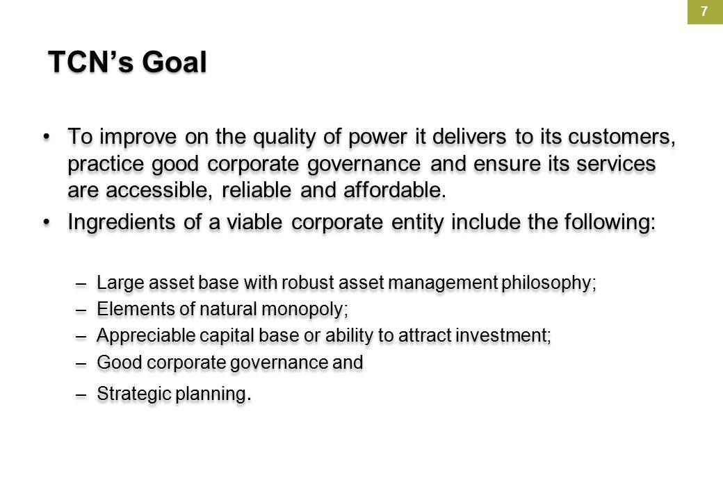 TCN's Goal