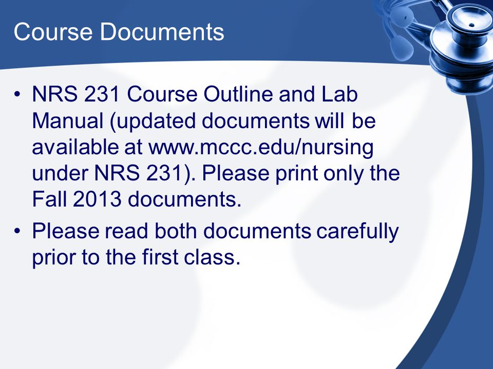 Course Documents