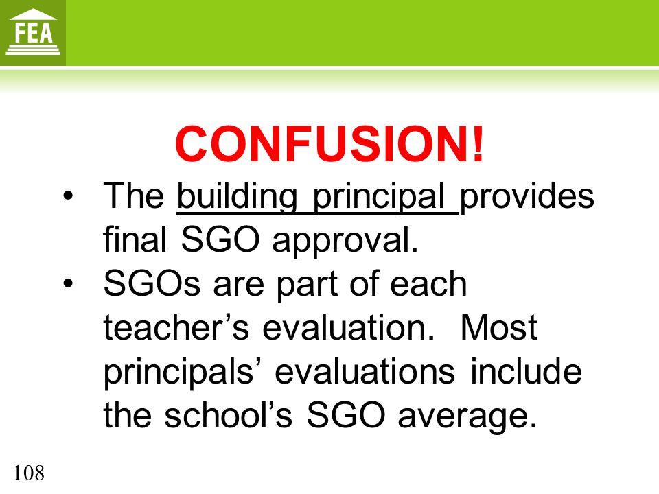 CONFUSION! The building principal provides final SGO approval.