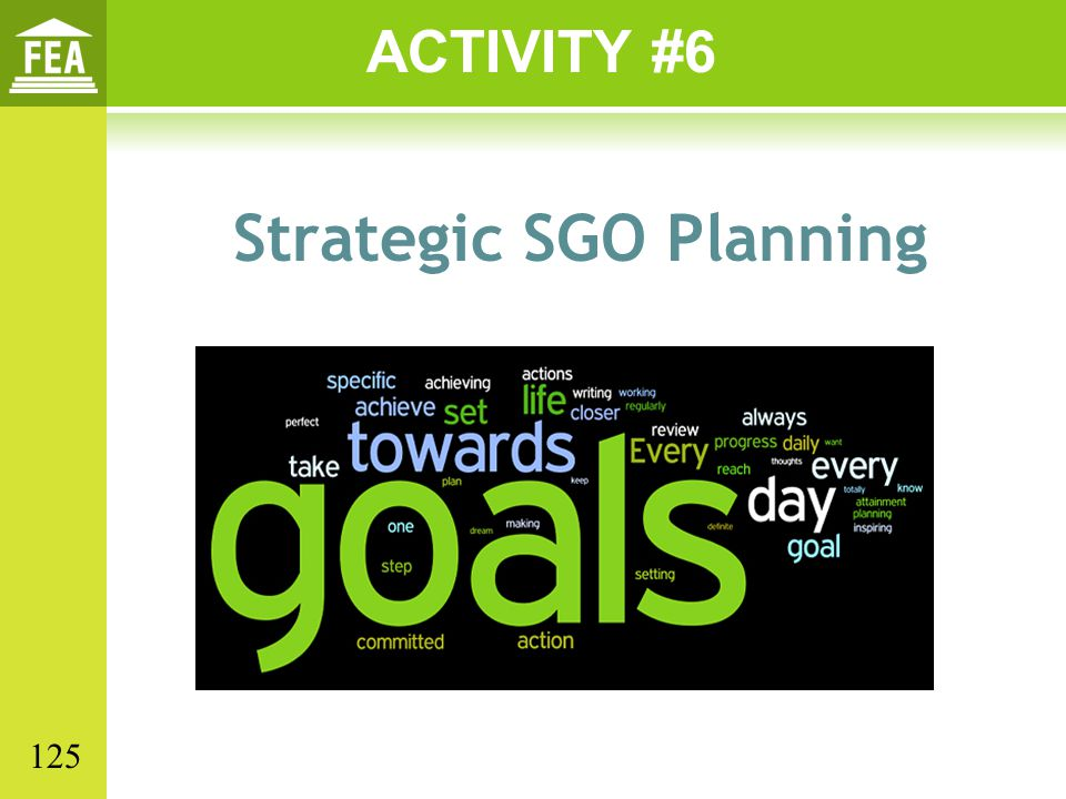 Strategic SGO Planning