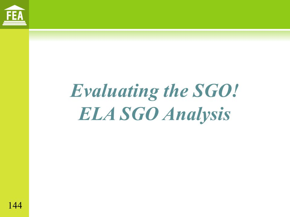 Evaluating the SGO! ELA SGO Analysis