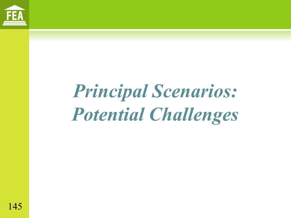 Principal Scenarios: Potential Challenges