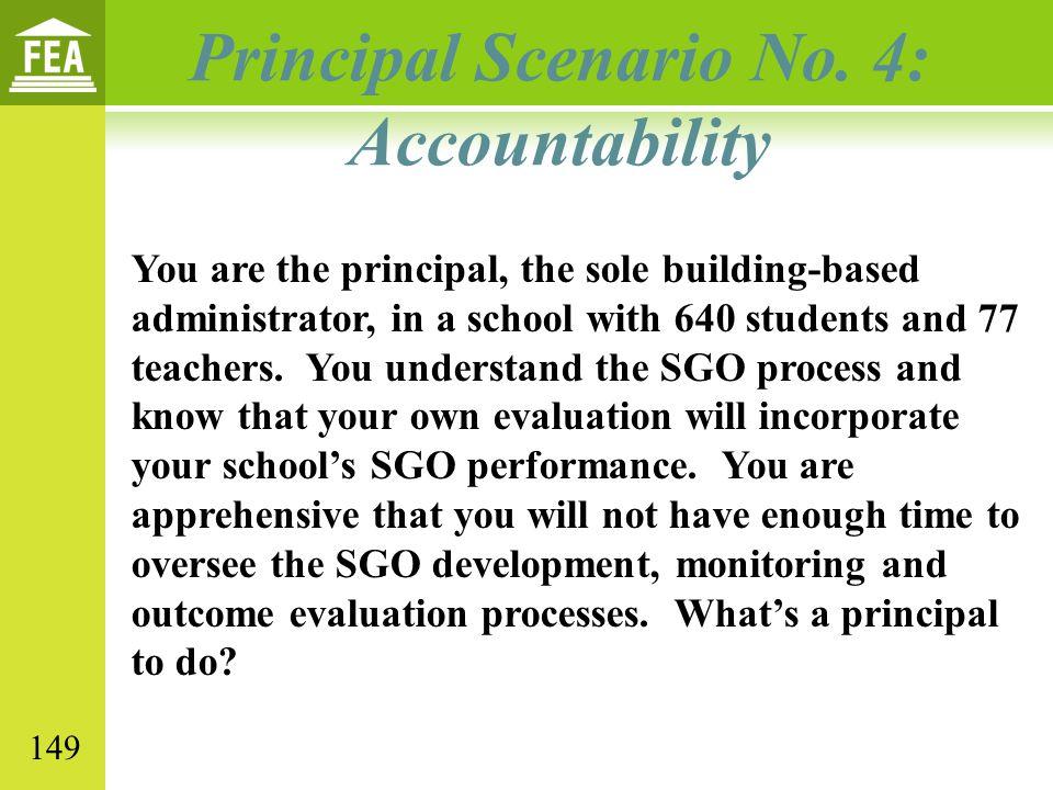 Principal Scenario No. 4: