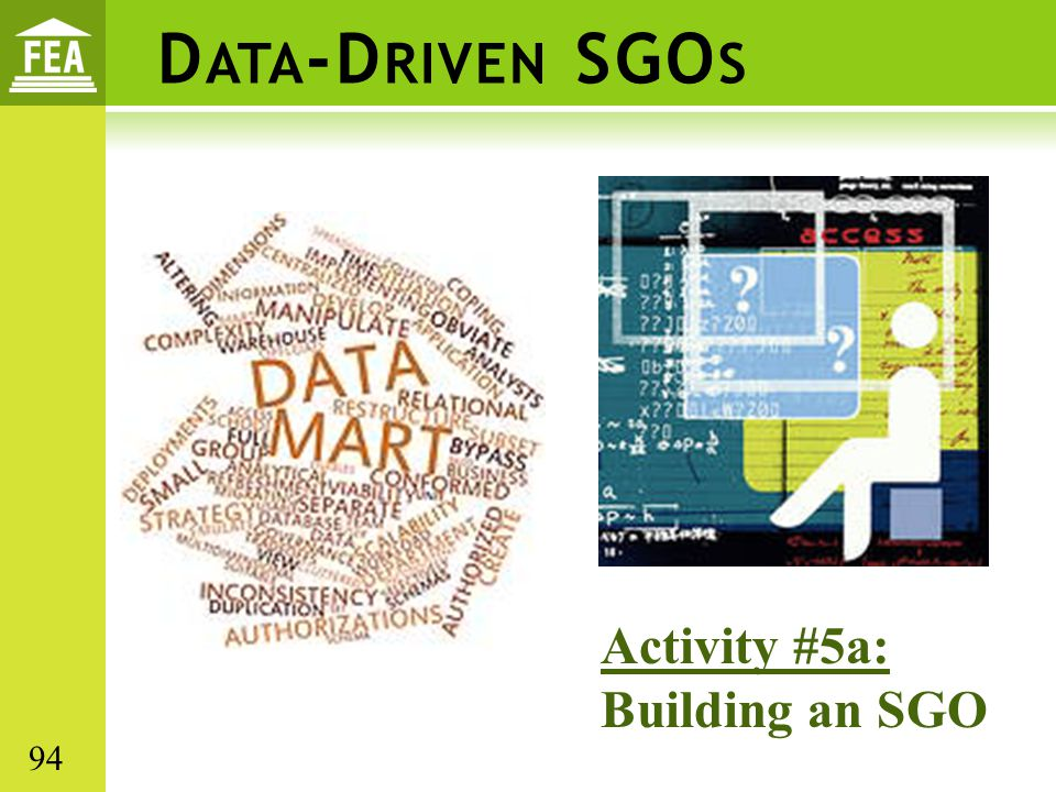 Data-Driven SGOs Activity #5a: Building an SGO 94