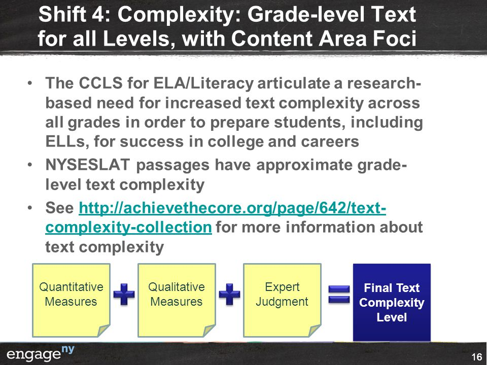 Final Text Complexity Level