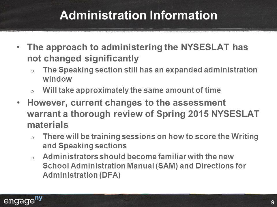 Administration Information