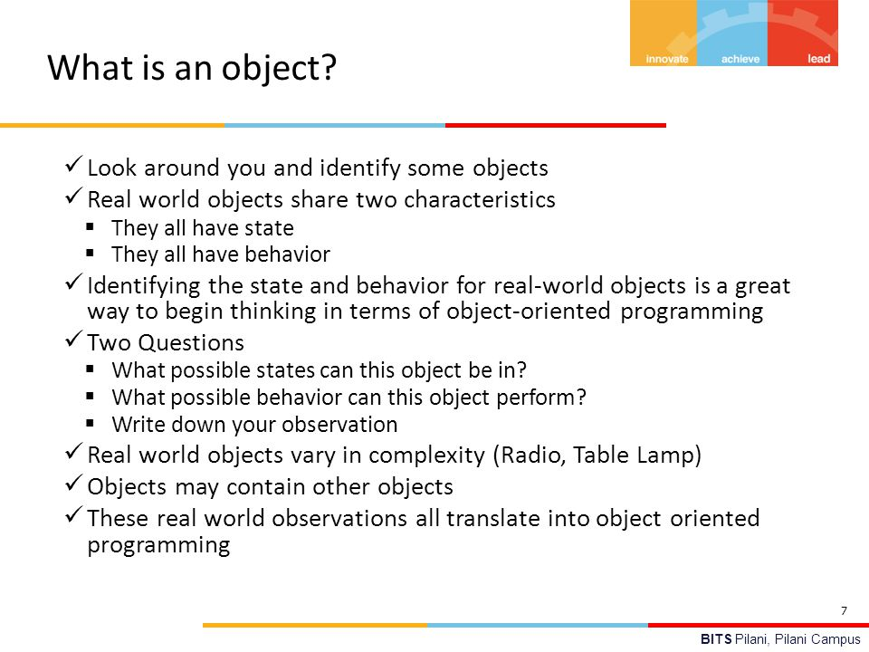 What is an object Look around you and identify some objects