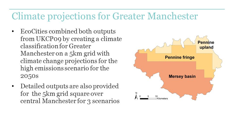 Climate projections for Greater Manchester