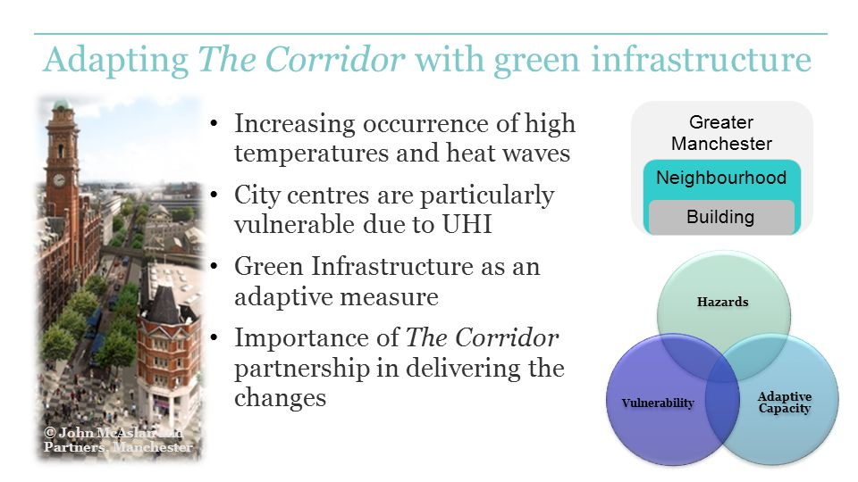 Adapting The Corridor with green infrastructure