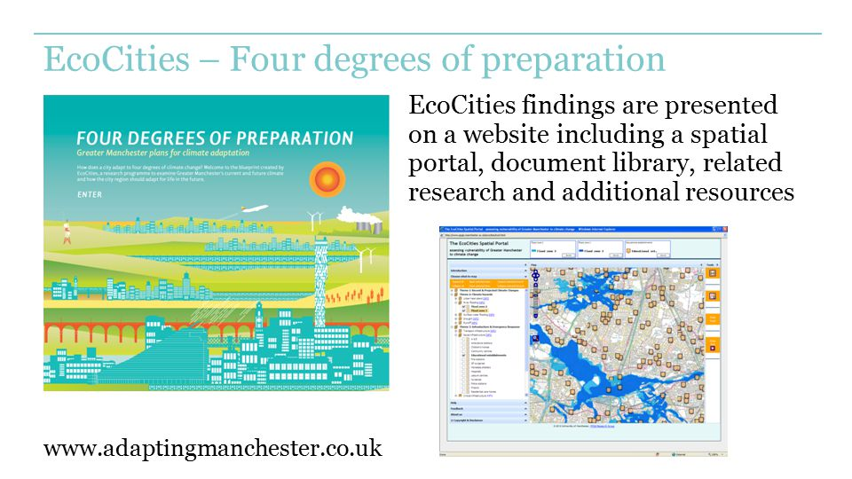 EcoCities – Four degrees of preparation