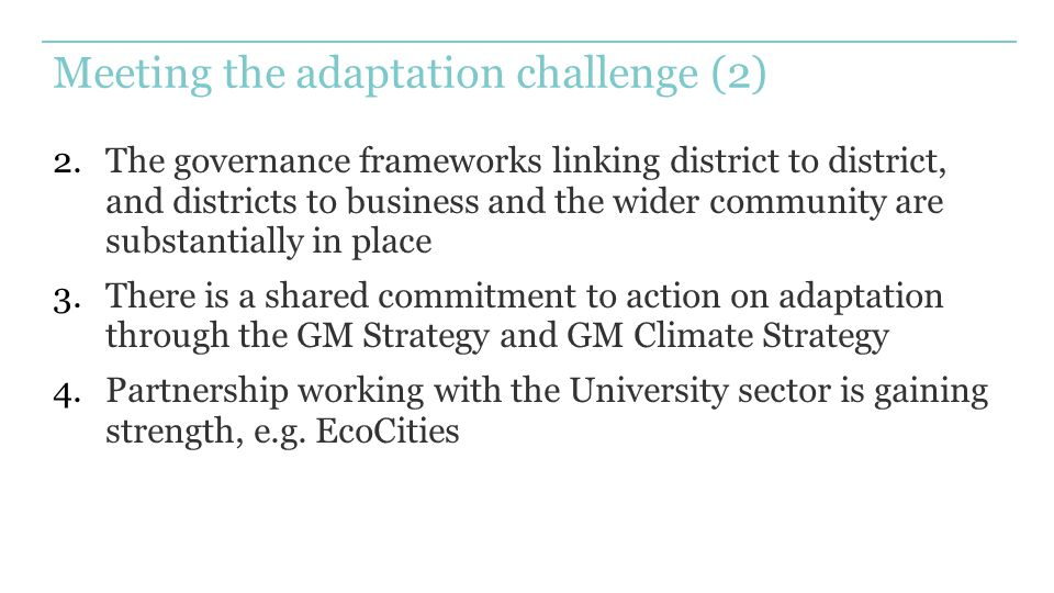 Meeting the adaptation challenge (2)