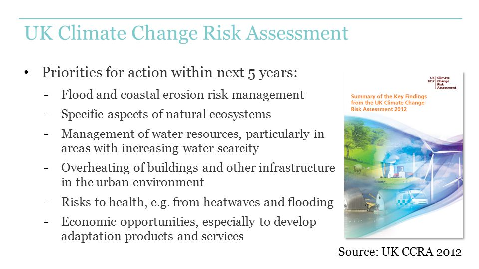 UK Climate Change Risk Assessment